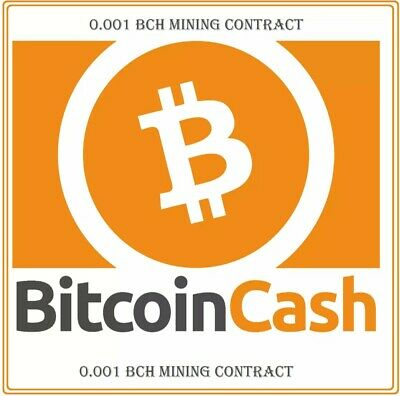 Bitcoin-Cash Mining Contract (0.001 BCH)