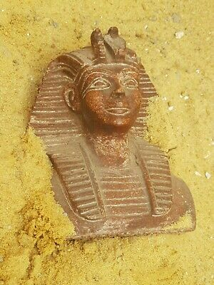 Rare Antique Ancient Egyptian King Tutankamun Head Crown Snack 1334 – 1325 BC