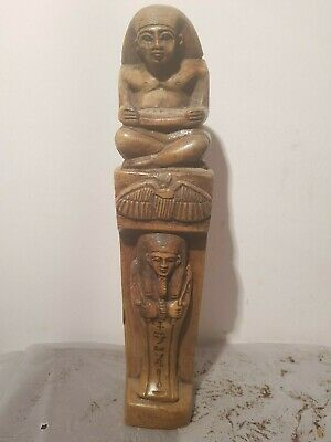 Rare Antique Ancient Egyptian statue Temple Scriber Ushabti scarab 1630-1570BC