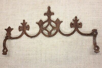 old Widow's Walk finial fence top rustic cast iron Fleur de Lis look vintage 13""