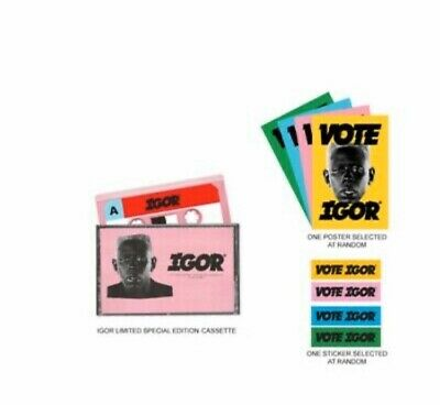 Tyler The Creator - Igor Cassette with Poster and Sticker