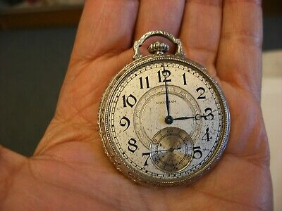 Antique 10K Gold Filled Waltham 15J Pocket Watch - No Crystal - As-is!