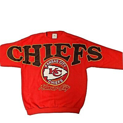 Vintage Kansas City Chiefs Men's Red Pullover Sweater Size X- Large. Big Graphic