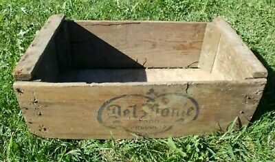 Vtg. WOODEN DELMONTE Vegetable & Fruit SHIPPING CRATE California Packing Corp.
