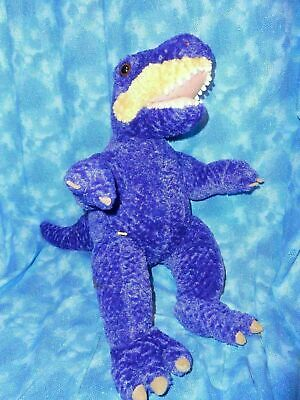 "BABW / Build a Bear Workshop 16"" Purple Dinosaur TYRANNOSAURUS T-  REX Plush Toy"