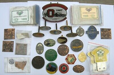COLLECTION of 44 CLASSIC VINTAGE CAR BADGES & PLAQUES -  43 Australian - 1 USA