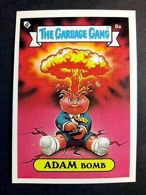 The Garbage Gang / Garbage Pail Kids 1985 Topps S1 Adam Bomb 8a card Vintage