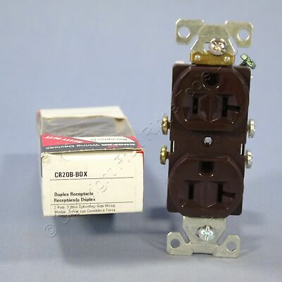 Cooper Brown COMMERCIAL Straight Blade Duplex Receptacle Outlet 5-20R 20A CR20B