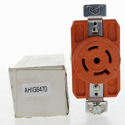 New Arrow Hart Orange Isolated Ground Receptacle 20A 120/208V NEMA 21-20R IG6470
