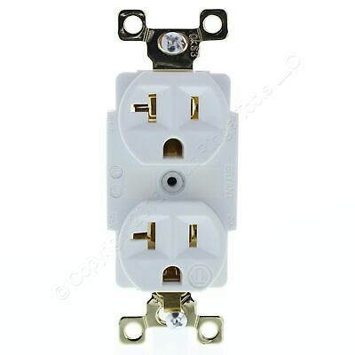Bryant Hubbell White INDUSTRIAL Receptacle Duplex Outlet 5-20R 20A 125V 5362W
