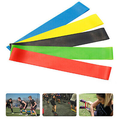 Resistance Bands Loop Set 5 Legs Exercise Workout CrossFit Fitness Yoga Booty US