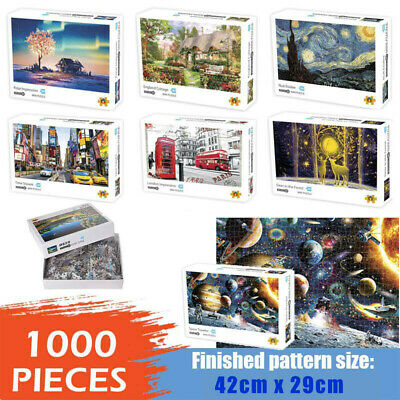 Adult 1000 Piece Large Wooden Jigsaw Puzzle Decompression Game Toy Difficulty