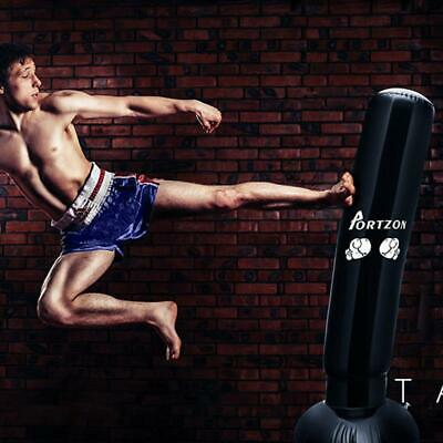 63inches Boxing Free Standing Punch Bag Stand PVC Martial Arts Punching Training