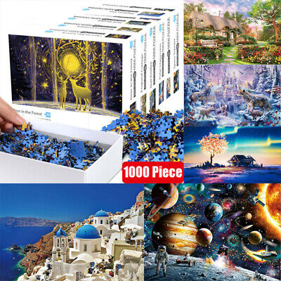 Kids Adult Puzzles 1000 Piece Large Wooden Jigsaw Decompression Game Toy Gifts