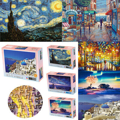 1000 Piece Large Wooden Jigsaw Puzzle Kids Adult Assembling Decompression Toys