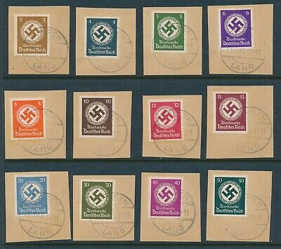 Lot Stamp Germany Official Mi 166-77 Sc O92-103 1942 WWII Officials Paper CTO