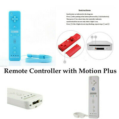 For Nintendo Wii & Wii U Remote Controller Built-in Motion Plus+Strap+Case UK