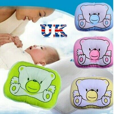 Prevent Flat Head Newborn Bear Pattern Pillow Infant Baby Support Cushion Pad UK