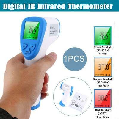 LCD Digital Thermometer Infrared Baby Adult Forehead Non-touch Temperature Gun #