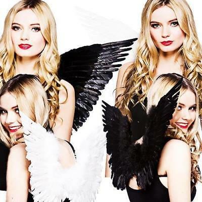 Feather Angel Wings Christmas Halloween Fancy Dress Costume Night Party Y2