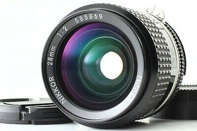 [Excellent+++++] Nikon Ai-S Nikkor 28Mm F2 Ais Mf Lens From Japan #0150