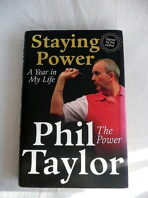 Phil Taylor - 'The Power' Signed, Hardback Book.