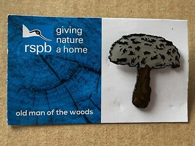RSPB Pin Badge - Old Man Of The Woods On GNaH Blue Card