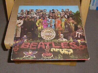Beatles.sgt Peppers Gfd Lp.parlophone Pcs 7027.1967.1/1.Stereo.red Inner Sleeve.