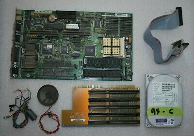 UniSys PC 486 LPX LNX Motherboard + 486DX2 66Mhz 7808K RAM VGA SERIAL PS/2 Win95