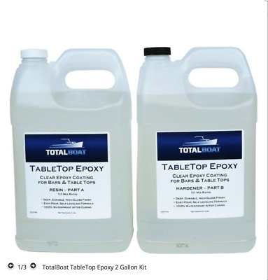 TotalBoat Table Top Epoxy Resin 2 Gallon Kit | Crystal Clear Coating free ship