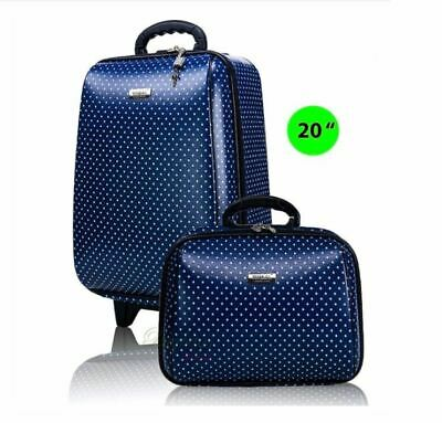 "Set 2 Travel Luggage 20"" and 14"" 2-Piece Luggage Set with carryon"