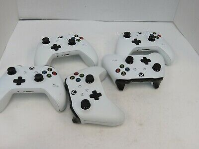 AS IS: Lot of 5: Microsoft Xbox One S Wireless Controller (1708) - White (R313)