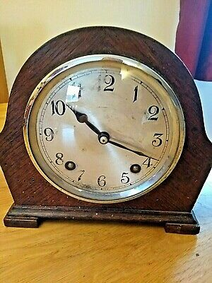 Vintage Garrard Striking 8 Day Wooden Mantle Clock.Spares/Repairs