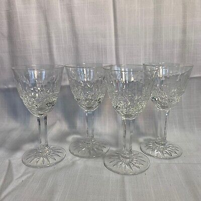 4 Lorraine Cristallerie Elegant French Cut Crystal Glasses, Apertif Sherry 4.75""