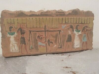 Rare Antique Ancient Egyptian Stela judgement day Gods Anubis Toth Os1680-1590BC