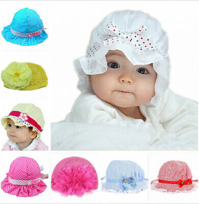 Toddler baby girl flowers princess sun hat peak cap summer cotton hat hat