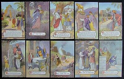 Lot Of 10 Religious Antique Embossed Postcards - 10 Commandments