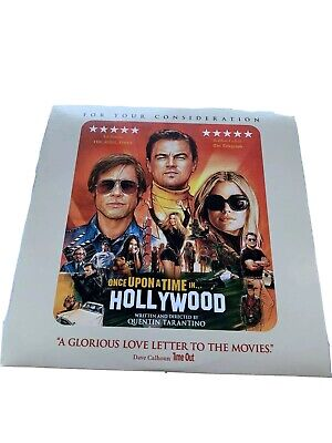ONCE UPON A TIME IN HOLLYWOOD FYC DVD Leonardo DiCaprio Brad Pitt Margot Robbie