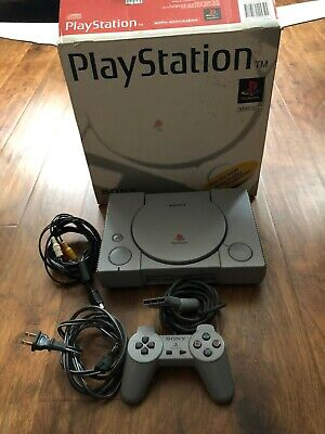 Sony PlayStation PS1 Gray Console System Controller SCPH-5501 With Box