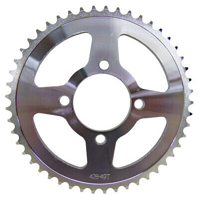CRU Products Steel Rear Sprocket 49T 49 Tooth for Yamaha 2000-up TTR125 TTR 125