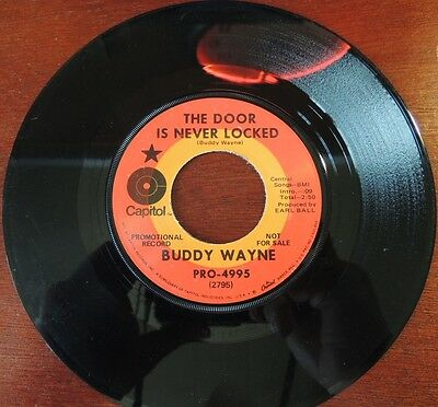 Country Buddy Wayne Home Capitol Promo 4995 45rpm 2795 The Door Is Never Locked