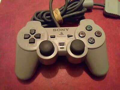 Official Sony PlayStation 1 PSOne PS1 Grey DualShock Controller SCPH-1200 #A