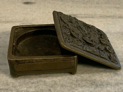 china old hand-made copper Hand carving Chinese box