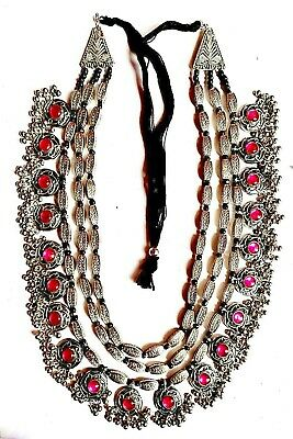 Indo Ethnique Indien Afghan Bijoux Traditionnel Tribal Bobo Gypsy Collier 3 Line