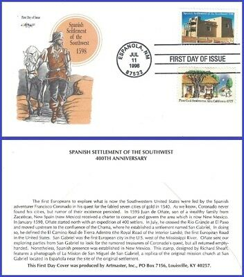 #3220 U/A ARTMASTER FDC Combo2  Spanish Settlement of the South