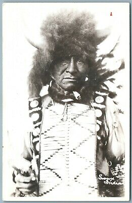 Sioux Indian Antique Real Photo Postcard Rppc