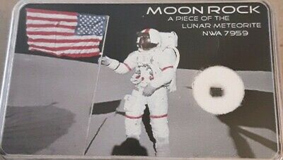 Rare Lunar Meteorite NWA 7959 Boxed, Certified Authenic