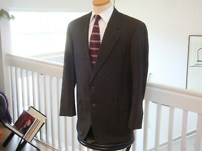 Hickey Freeman Boardroom 2 Button Single Breasted Suit 44R / 36 x 28