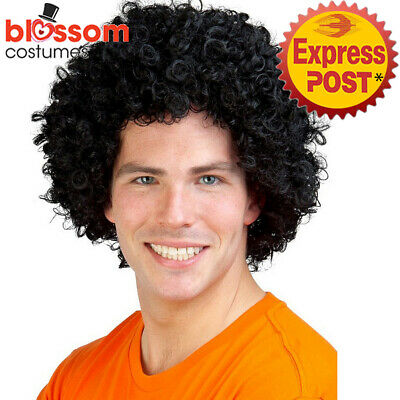 W700 Brown Fro Afro Wig Curly Costume Redfoo Music Pop Rock Star 60s 70s Disco