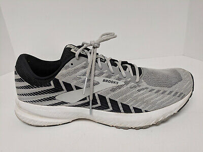 Brooks Launch 6 Running Shoes, Alloy/Black/Grey, Mens 12 M